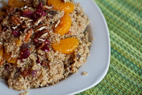 Mandarin & Maple Spiced Quinoa with Cranberries, Apricots, and Almonds