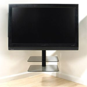 avf nexus nxl4502pb a ultimate corner tv mount and. Black Bedroom Furniture Sets. Home Design Ideas