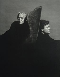 Andrew and Jamie Wyeth  (photo by the brilliant Michael Ahearn)