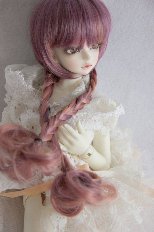 7-8 inch Wig for doll Outfit  BJD 1//4 SD Girl