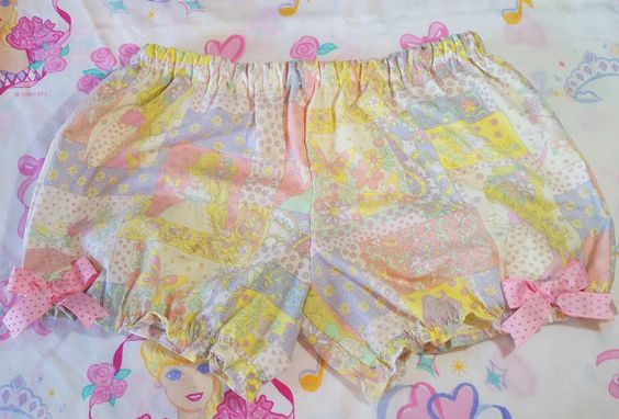 Pastel 80s girl bloomers blue sweet lolita fairy by missalphabet