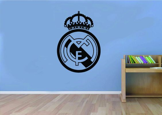 Real madrid football club logo wall art sticker deco for Decoration chambre real madrid