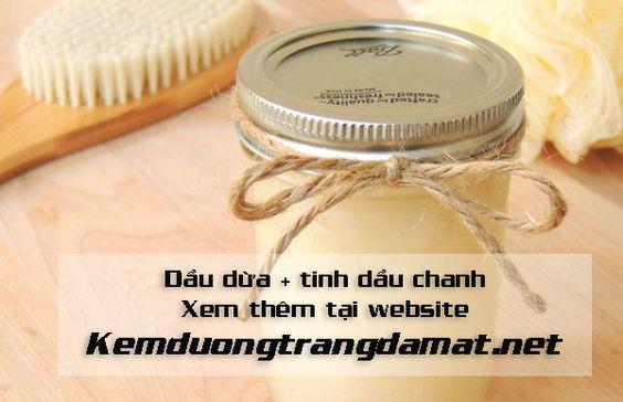 Học cách chăm sóc dưỡng da chỉ với chanh và dầu dừa