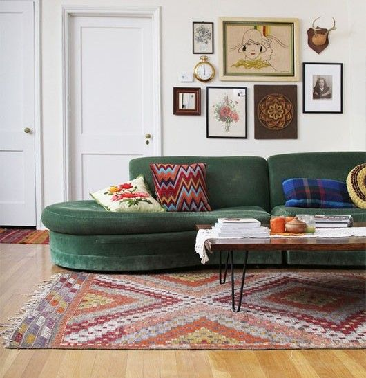 Love That Emerald Sofa Cool Spaces Pinterest