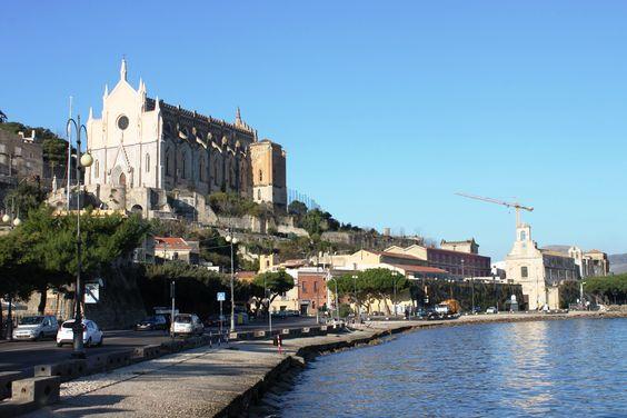 Gaeta along sea wall