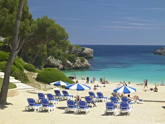 Cala Esmeralda beach, inturotel esmeralda park, Cala dOr, Mallorca  int...