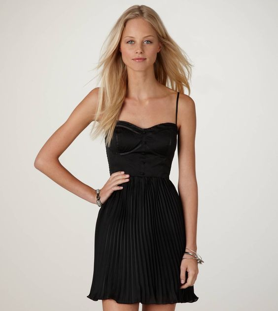 Pleated Corset Dress - $40 by American Eagle Outfitters