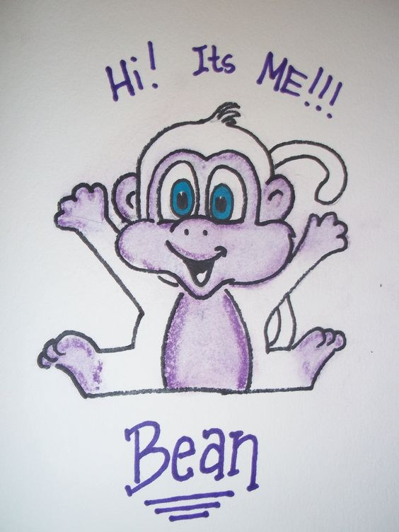 First sketch/Design concept for the Bean Monkey Puppet