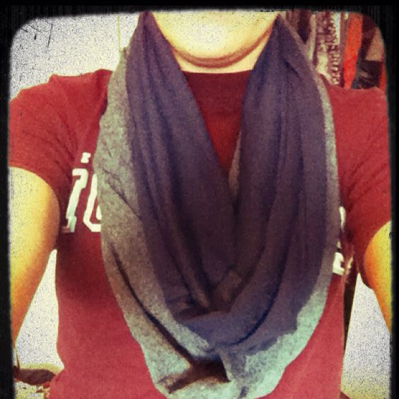 Infinity scarf with all t-shirts