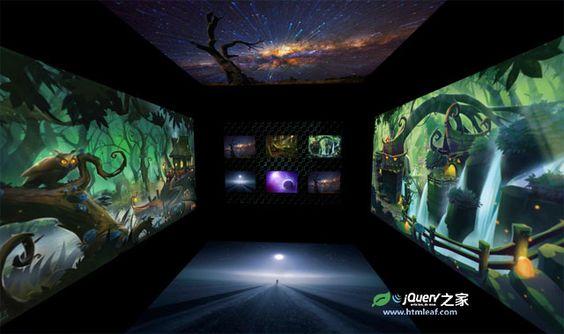 超酷3D立體方空間旋轉圖片畫廊特效