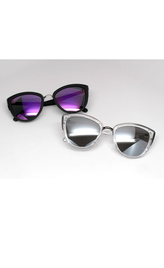 My Girl Sunglasses Purple and Clear- White Fox Boutique