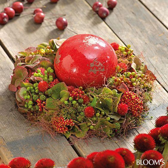 Herbstdeko: Ideen in leuchtendem Rot - Herbstkranz
