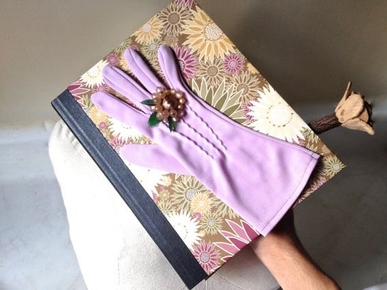 Vintage Glove Flower Notebook with Brown Purple by ZiLLAsQuEeN, $24.00