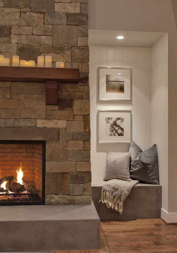 I Like The Little Alcove On The Side Of This Fireplace