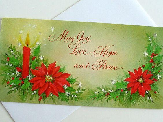UNUSED Vintage Christmas Holiday Card  Candle by BythewaysideXmas