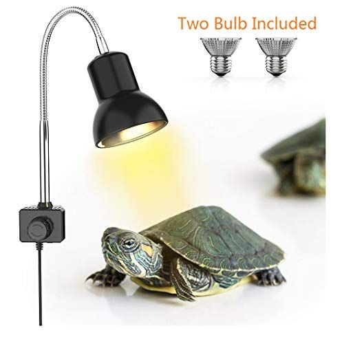 Review Dadypet Tortoise Heat Lamp Reptile Light For Aquarium With Holder Uva Uvb Basking Lamp With 360 Rotatable Clip In 2020 Reptile Heat Lamp Heat Lamps Clamp Lamp