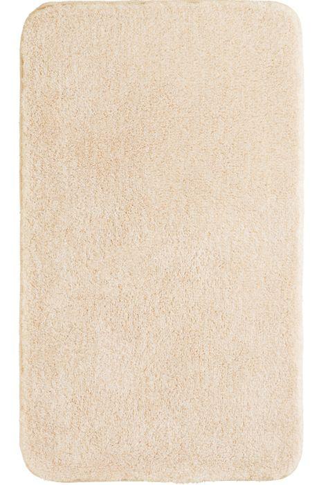 Der flauschige Badteppich Lex in champagner hat eine Florhöhe von 32 mm und ist aus Polyacryl ultrasoft. Der Teppich ist waschbar bei 40°C und geeignet für Fußbodenheizung. Die Rückseite ist rutschhemmend beschichtet.