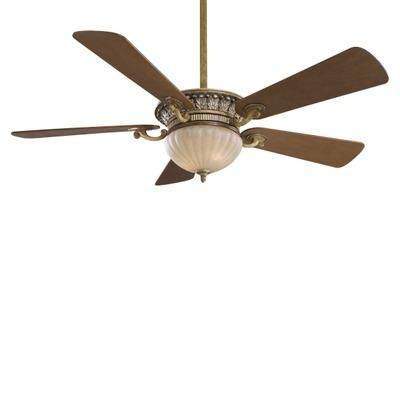 (CLICK IMAGE TWICE FOR UPDATED PRICING AND INFO) #home #homeimprovement  #ceilingfans #fans #ceiling #homedecor #ceilingligthing See more ceiling fans at http://www.zbrands.com/Ceiling-Fans-C34.aspx - Minka Aire Ceiling Fans - 52 Volterra 5 Blade Ceiling Fan with Wall Control Finish: Tuscan Patina with Natural Walnut Blades, Glass Type: Aged Champagne Glass