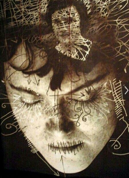 Exene Cervenka art done by Viggo Mortensen