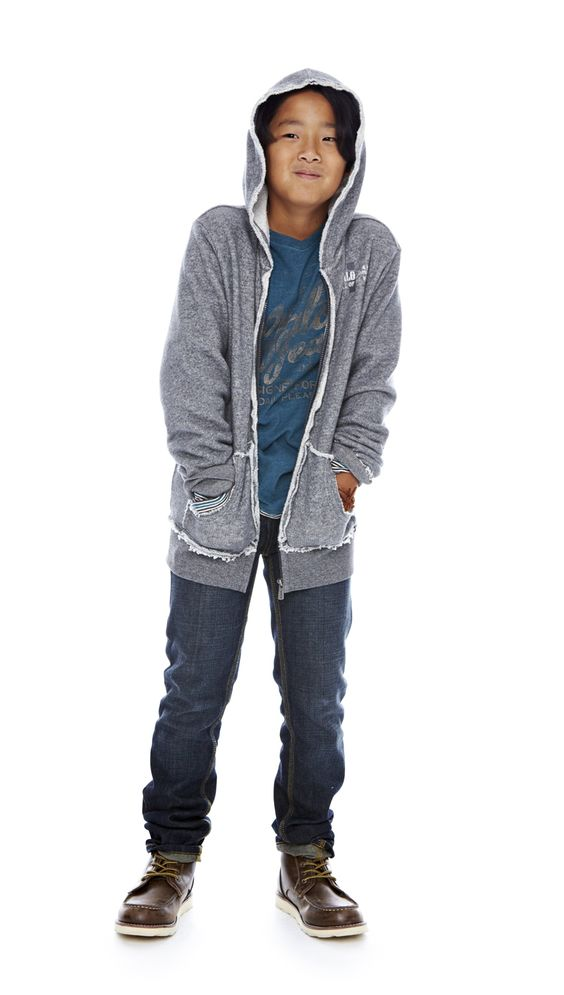 let boys be boys — i jeans by buffalo layered v-neck shirt, hoodie and premium jeans