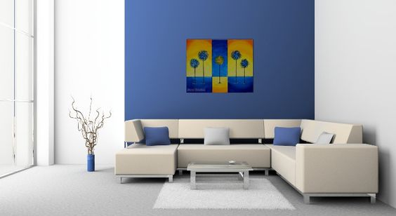Large Abstract Tree Painting, Livingroom