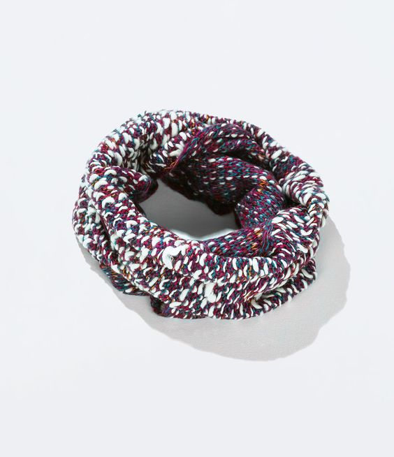 Image 1 of MIXED KNIT SNOOD SCARF from Zara $25.90