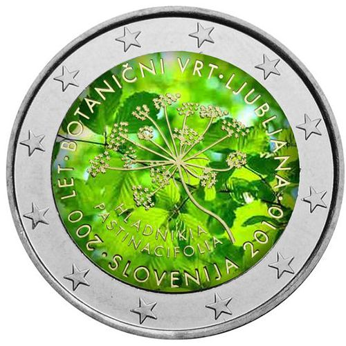 "N♡T.Slowenien 2 Euro ""Botanischer Garten"" coloriert..."