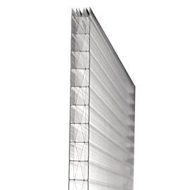 Plaque polycarbonate alvéolaire 6p 400 x 105 cm clair