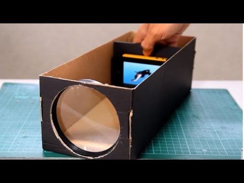 How To Make A Hd Projector At Home In 5 Minute Digital Projector Tech Toyz Videos Youtube Smartphone Projector Diy Projector Homemade Projector