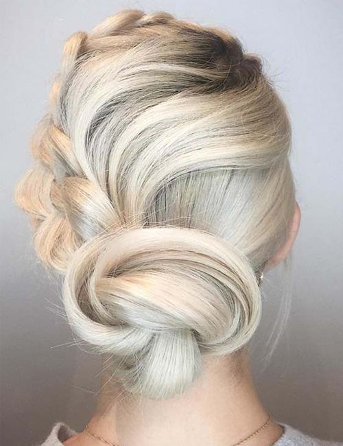 Sizzling Platinum Blonde Updo Hairstyles 2019 You Might Wish