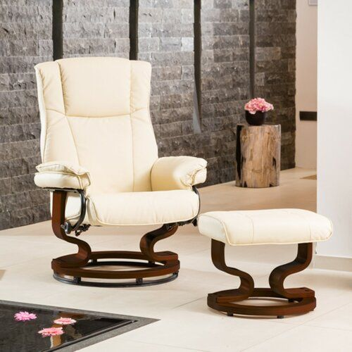 Hightower Manual Swivel Recliner with Footstool George