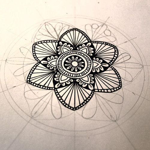 Mandala Zeichnen Mandala Malen Anleitung Mandalas Zeichnen Mandala Selber Malen