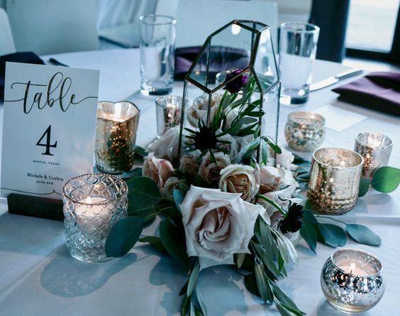 #florafetish #votives #candles #centerpiece #geod