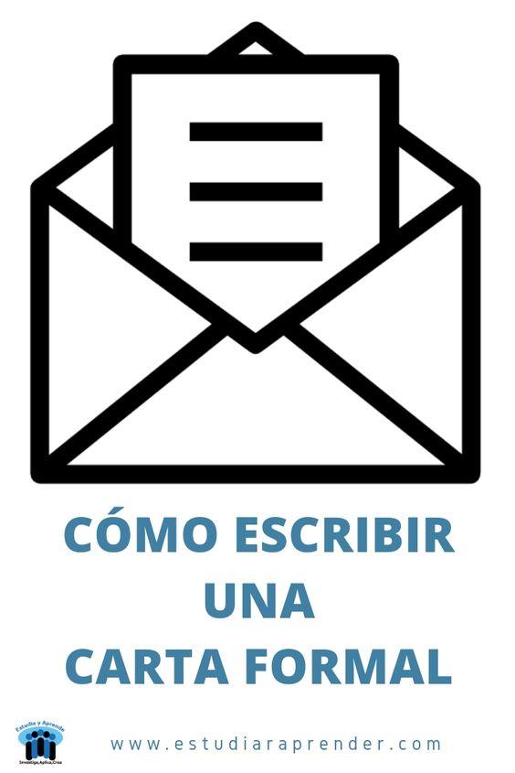 como hacer una carta formal