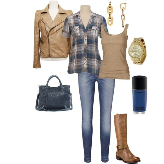 Blue and Brown, created by christmasmomto5 on Polyvore