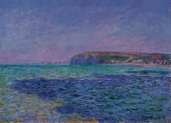 Claude Monet - Shadows on the Sea, The Cliffs at Pourville
