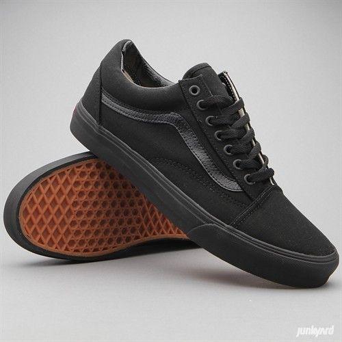 vans black school shoes