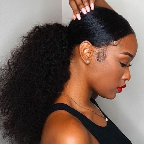 20 Best Nigerian Weavon Hairstyles For 2019 Hairstylecamp Natural Hair Styles Curled Ponytail Hairstyles Sleek Ponytail