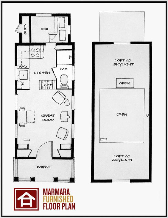 The Marmara   Floor Plans  Floors and Tiny House CompanyThe Marmara by  quot Four Lights quot    Again  a floor plan is great
