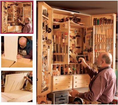 Armarios caseros para herramientas armario de for Distribucion cuadros pared