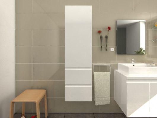 Colonne de salle de bain LAVITA - blanc laqué en 2019 ...