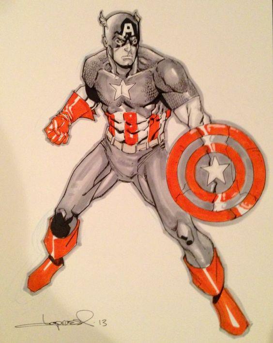 Captain America by Aaron Lopresti