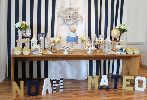 Noah's Ark Nautical theme Birthday Party Ideas: