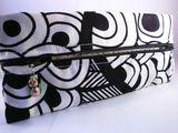Black and white pencil case