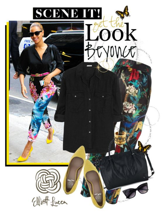 Beautiful Beyonce..Get the Look with Elliott Lucca by shortyluv718 on Polyvore featuring polyvore fashion style James Perse Alice + Olivia Alexander McQueen Melissa Odabash elliotlucca