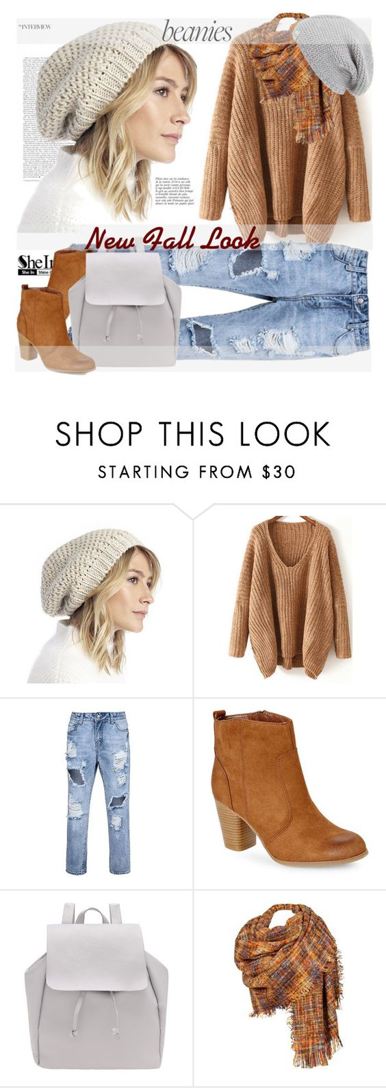 """New Fall Look by Sofi"" by sofi-danka ❤ liked on Polyvore featuring Sole Society, Madden Girl, Black Rivet, UGG Australia, Anja, beanies and shein"