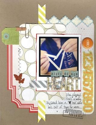 Nicole Harper started with Take Note, and then added pieces from Abroad and Classic Calico - and she ended up with a gorgeous page!
