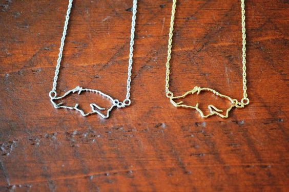 Hey, I found this really awesome Etsy listing at https://www.etsy.com/listing/161777245/razorback-necklace-by-gameday-runway