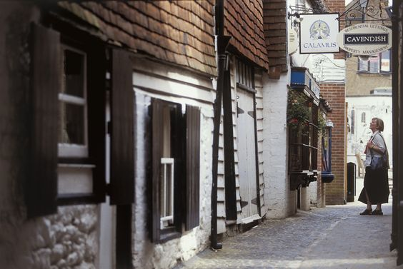 Alley off the high street in Sevenoaks, Kent.