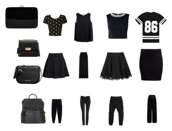 A Lot Of Black by emma-victoria-e on Polyvore featuring Glamorous, H&M, Alice + Olivia, McQ by Alexander McQueen, Monsoon, Zanerobe, Wallis, Oasis, Zalando and Balenciaga
